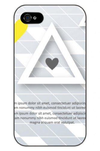 Sprawl New Fashion Design Hard Skin Case Cover Shell For Mobilephone Apple Iphone 5 5S--Triangle Love Heart