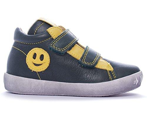 Naturino Must unisex bambino, pelle liscia, sneaker alta, 22 EU