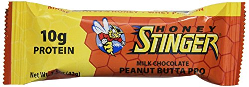 Honey Stinger Protein Bar, Peanut Butta, 1.5 Ounce (Pack of 15)