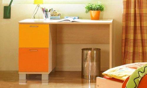 Schreibtisch Computertisch P5T55F24 Kinderzimmer ahorn gelb orange bestellen