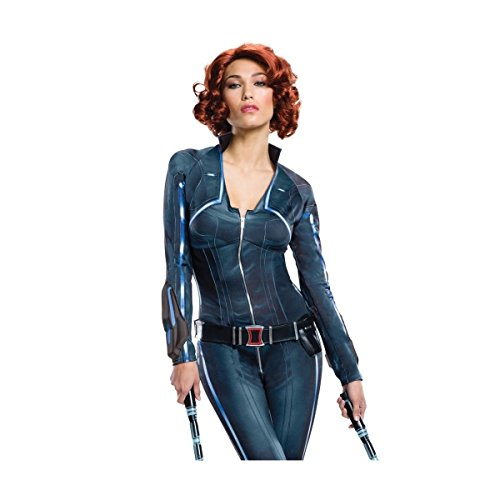 [GSG Black Widow Wig Adult Female HeroHalloween Costume Fancy Dress] (Adult Black Suit Superman Costumes)