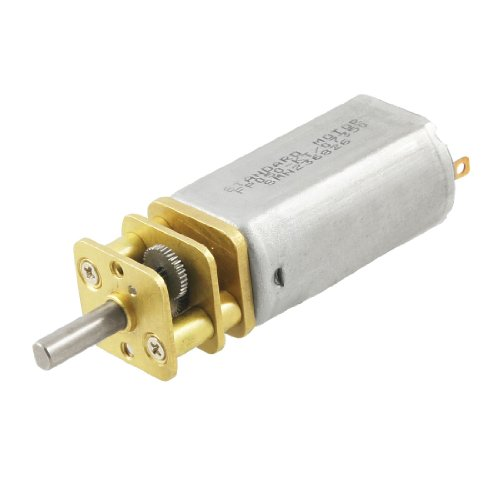 Uxcell 10rpm 6v 60ma 3mm shaft mini dc geared gear box for Lampen 6v 60ma