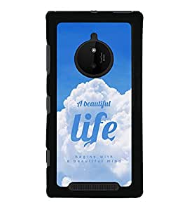 Life Quote 2D Hard Polycarbonate Designer Back Case Cover for Nokia Lumia 830 :: Nokia Lumia 830 RM-984