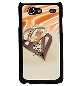PRINTVISA Quotes Love Case Cover for Samsung Galaxy S Advance I9070