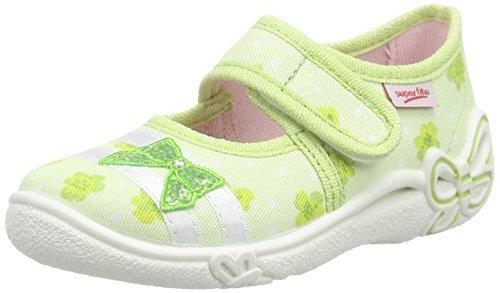 SuperfitBELINDA - Pantofole basse Bambina , Verde (Verde (GRÜN KOMBI 09)), 28