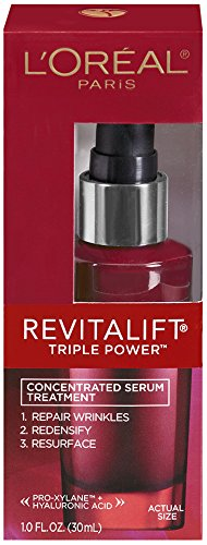 L'Oreal Paris discount duty free L'Oreal Paris Revitalift Triple Power concentrated  serum Treatment For All Skin Types, 1 Fluid Ounce