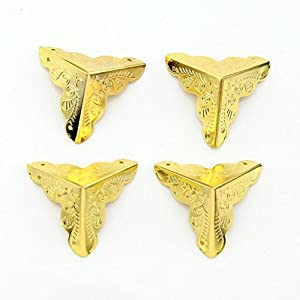 Emylo 25mm Antique Golden Box Corner Protectors Decorative Furniture Fittings Corner