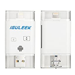 SD Card Reader, Guleek Card Reader Picture Video Lightning USB OTG SDHC Micro SD Card Adapter