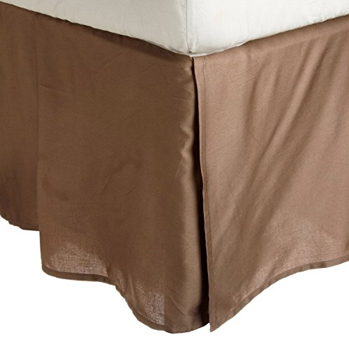 100-brushed-microfiber-bed-skirt-queen-taupe-wrinkle-resistant-pleated-corners