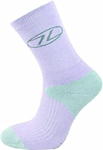 Highlander Women's Coolmax Trek Sock - Purple/Grey, Small