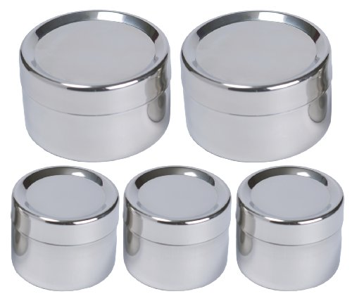 To Go Ware Stainless Steel Snack Containers   Tiffin Sidekick   5 Pack