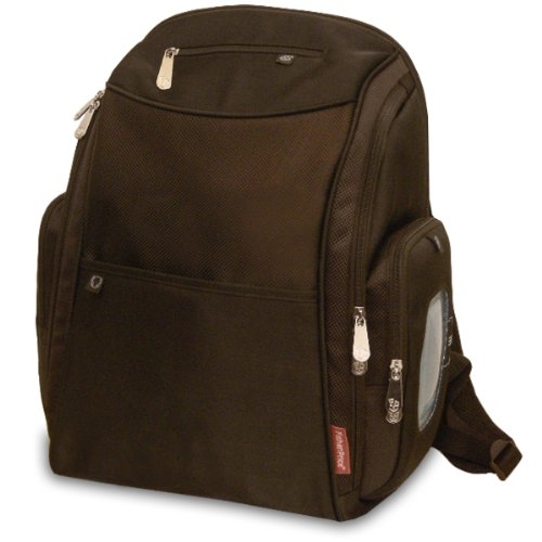 Fisher-Price Fastfinder Diaper Backpack, Brown