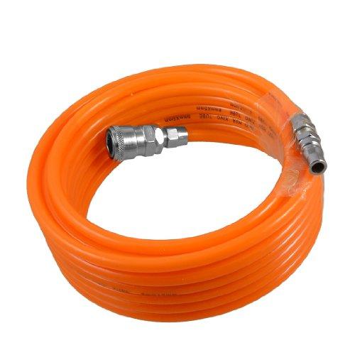 8mm x 5mm Polyurethane PU Air Compressor Hose Tube Orange 9M 29.5Ft