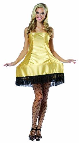 Rasta Imposta A Christmas Story Leg Lamp Dress Costume, Gold, One Size