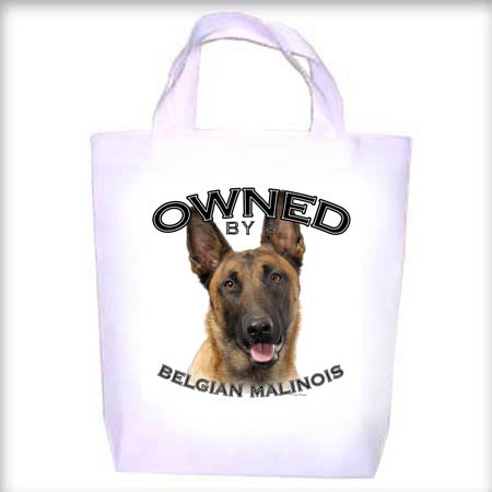 Belgian Malinois Owned Shopping - Dog Toy - Tote Bag