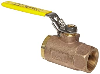 Apollo 70-100 Series Bronze Ball Valve with Automatic Drain, Two Piece, Inline, Latch-Lock Lever, NPT Female