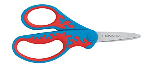 Best Review Of Fiskars 5 Kid Scissors Left-Handed Pointed-Tip, 2 Pack (94337097J-2)