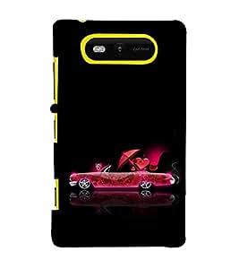 EPICCASE funky car Mobile Back Case Cover For Nokia Lumia 820 (Designer Case)