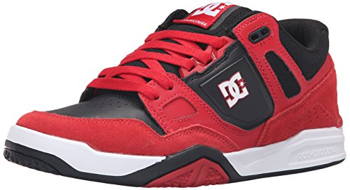 DC Men's Stag 2 Skate Shoe, Red/Black, 10.5 M US