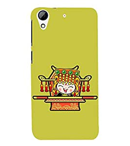 printtech Cartoon Cute Girl queen Back Case Cover for  HTC Desire 728G