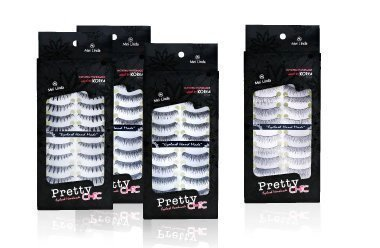 10 Pairs Handmade Natural Fake Eyelashes EyeLashesMakeup Pretty Chic No.27