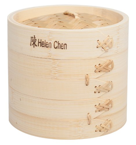 Helen Chen's Asian Kitchen Bamboo Steamer, 6-Inch (Bamboo Steamer Small compare prices)