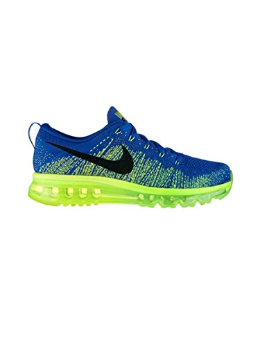 Nike Men'S Flyknit Air Max Running Shoes - Game Royal/Black/Electric Green (9.5)