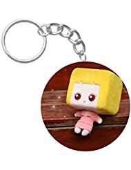 Cute Toy Doll | ShopTwiz Circle Printed Key Rings