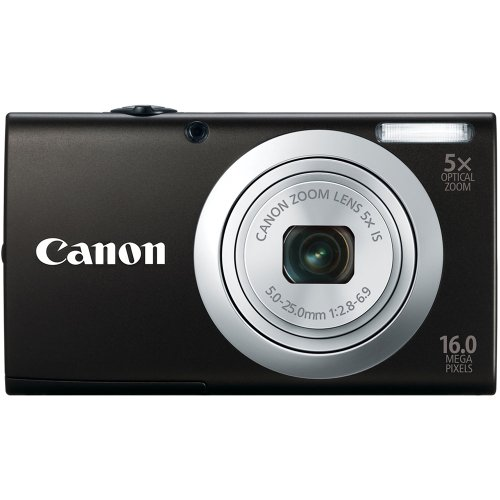 Canon 6188B005 PowerShot A2400 IS 16.0 MP Digital Camera with 5x Optical Image Stabilized Zoom 24mm Wide-Angle Lens with 720p Full HD Video Recording (Black)