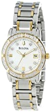 Bulova Womens 98R107 Diamond Accented Calendar Watch