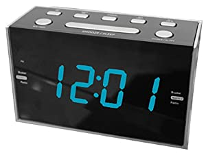 Sylvania SCR1053 1.2-Inch Jumbo Digit Dual Alarm Clock Radio with Blue LED