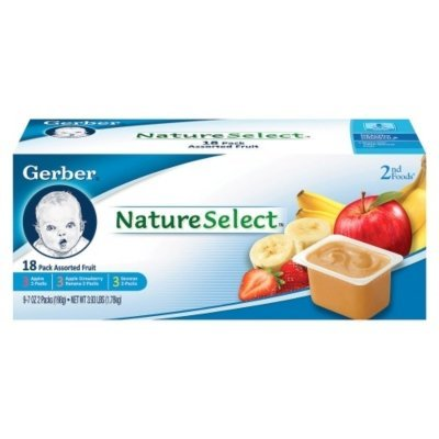 Gerber 2nd Foods Assorted Fruit Apple Banana Apple Strawberry banana 18 count 3 5oz Ounce Tubs