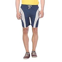 TeesTadka Men's Cotton Shorts (TT_SHRT M 01_XL_Royal Blue_X-Large)