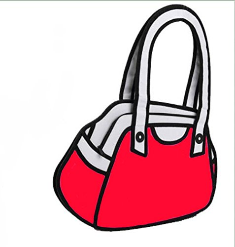 2D Drawing 3D Jump Handbag Shoulder Canvas From Cartoon Paper Messenger Satchel Bag #07