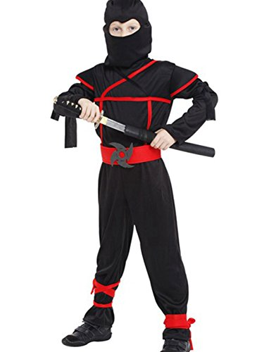 DD-CM Little Boys Halloween Ninja Assassin Costume Role Play Romper