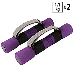 "FITSYâ""¢ Soft Foam Dumbbells for Women - With Adjustable Strap - 1.1 KG x 2"