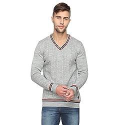 Proline Men's Synthetic Sweater (8907007354155_PV11279_GML_XXL_Grey Marl)