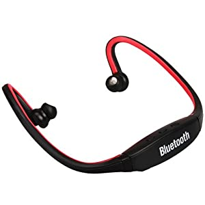 Red Sports Wireless Bluetooth Headset Headphone Earphone for Cell Phone
