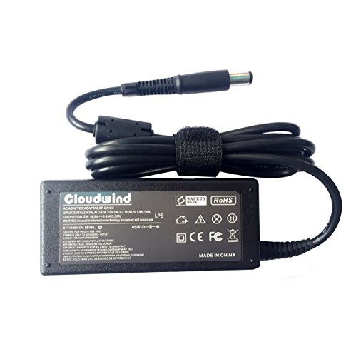 Cloudwind 19.5V 3.33A 65W Replacement AC Adapter for For HP 677774-001 2000-2C29WM 2000-2B19WM 693711-001,HP Compaq,Dv6,Dv7 Series Laptop, AC Adapter Charger Power Cord Included. (Hp Compaq Nc6400 Power Cord compare prices)