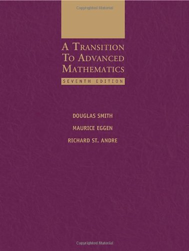 A Transition to Advanced Mathematics