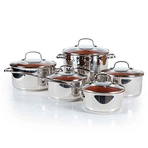 Nuwave DuralonTM Ceramic Non-stick Cookware 10-piece Set with Lids
