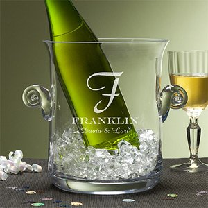 Personalized Ice Bucket Chiller - Family Monogram front-956639