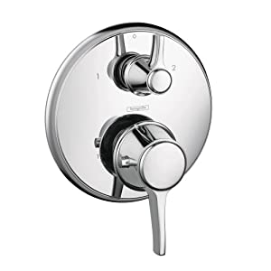 Hansgrohe 15753001 Metris C Thermostatic Trim with Volume Control and Diverter, Chrome