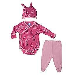 KicKee Pants Baby Girls\' Print Ruffle Kimono Set (Baby) - Winter Rose Bc - Newborn