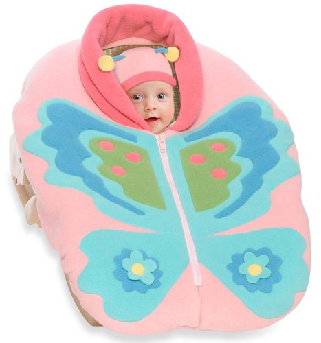 Snugaroo Car Seat Cover with Butterfly - 1