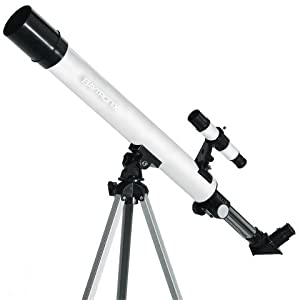 White TwinStar AstroMark 50mm 75x Power Refractor Telescope by TwinStar