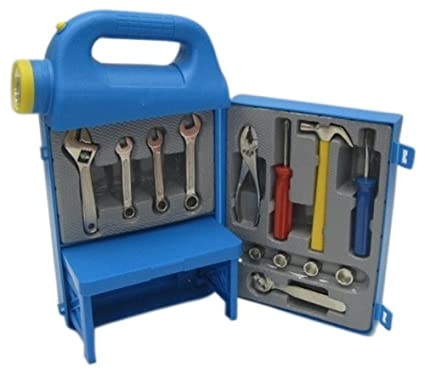 Mighty Wheels Light Up Tool Box, Blue