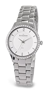 Skagen Women's 347SSX Katja Quartz 3 Hand Stainless Steel Silver Watch
