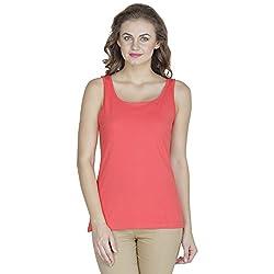 RAMPWALK Women's Sleevless Top (FYIAW15-TP03-01-99-08-04,Peachpuff,Medium)