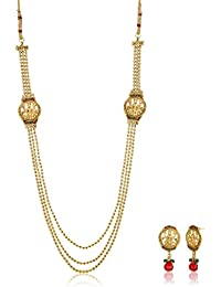 Ava Jewellery Set For Women (Golden) (S-VS-1430)